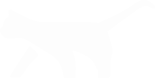 FERAL Cat Graphic - White